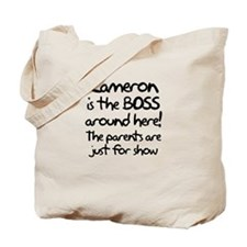 Cameron is the Boss Tote Bag