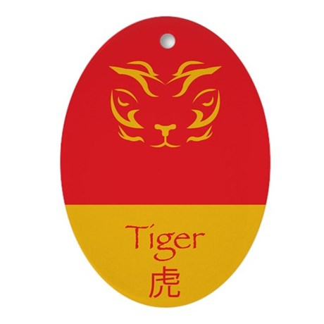 Year of the Tiger for Her Ornament (Oval)