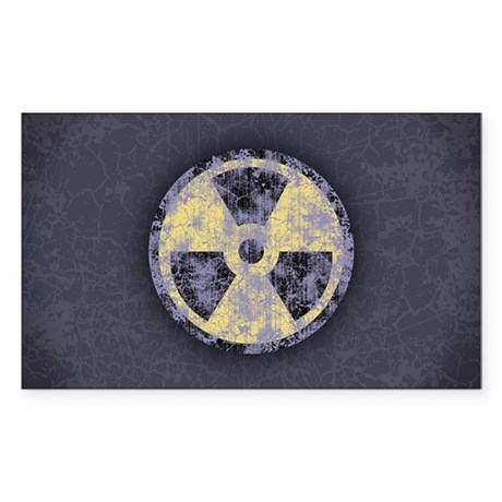 Radiation -cl-dist Sticker (Rectangle)