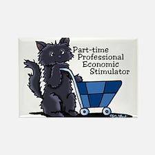 Black Cat Economic Stimulator Rectangle Magnet