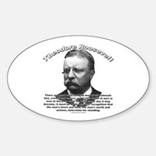 Theodore Roosevelt 01 Oval Decal