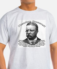 Theodore Roosevelt 01 Ash Grey T-Shirt