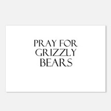 Pray For Grizzly Bears Postcards (Package of 8)
