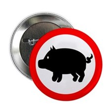 """Pig 2.25"""" Button"""