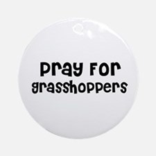 Pray For Grasshoppers Ornament (Round)