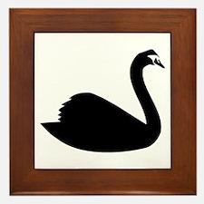 Swan Framed Tile