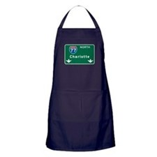 Charlotte, NC Highway Sign Apron (dark)