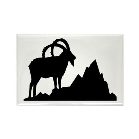 Ibex - Capricorn Rectangle Magnet (100 pack)