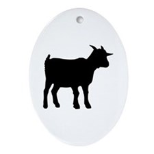 Goat Ornament (Oval)