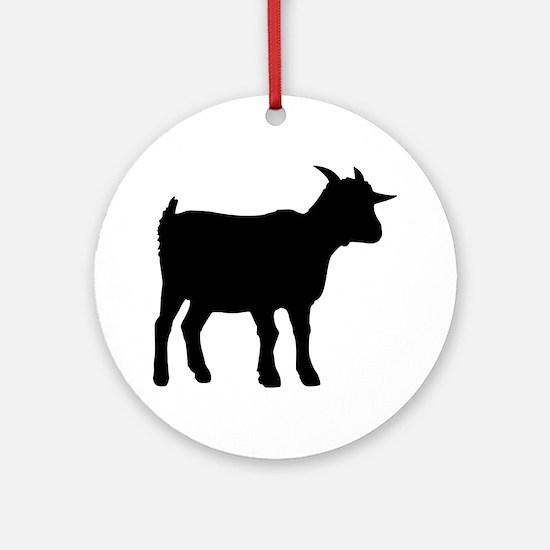 Goat Ornament (Round)