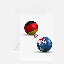 Germany Vs Australia Greeting Card