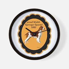 Welsh Springer Spaniel DAD Wall Clock