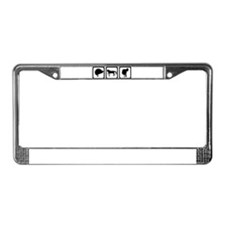 Horse - riding License Plate Frame