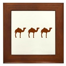 Camels Framed Tile