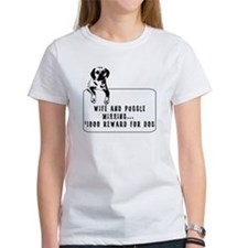 wife and puggle missing Tee