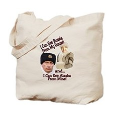Putin and Palin Tote Bag