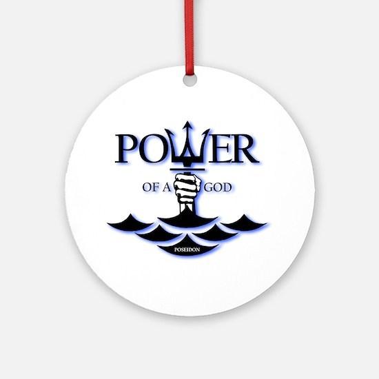 Power of Poseidon Ornament (Round)