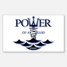 Power of Poseidon Sticker (Rectangle)