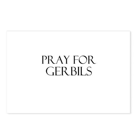 Pray For Gerbils Postcards (Package of 8)
