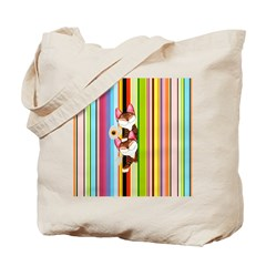 cat art- Colour of Two Tote Bag