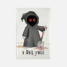 Valentine Grim Reaper Rectangle Magnet