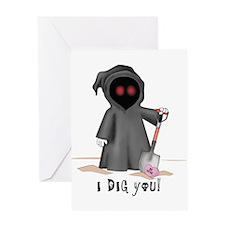 Valentine Grim Reaper Greeting Card