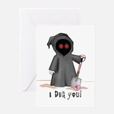 Valentine Grim Reaper Greeting Card