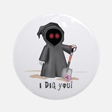 Valentine Grim Reaper Ornament (Round)