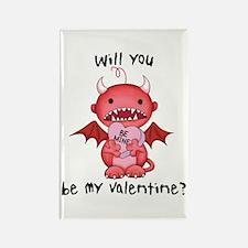Valentine Devil Rectangle Magnet