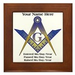 Masonic History Framed Tile