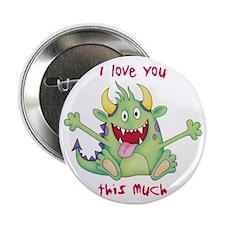 """Valentine Monster 2.25"""" Button"""