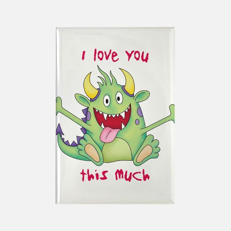 Valentine Monster Rectangle Magnet