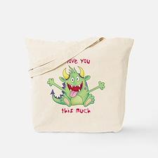Valentine Monster Tote Bag