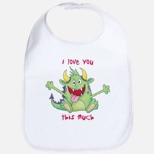 Valentine Monster Bib