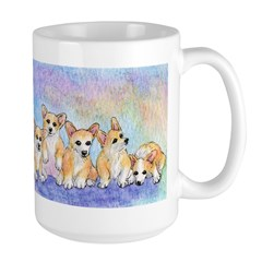 A cuddle of corgis Mug