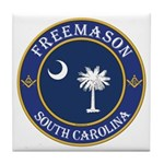 South Carolina Masons Tile Coaster