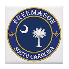 South Carolina Masons Tile Coaster