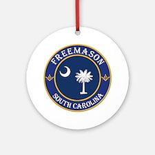 South Carolina Masons Ornament (Round)