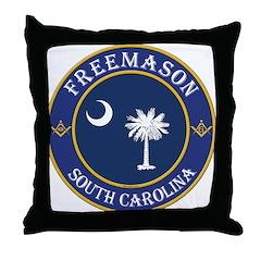 South Carolina Masons Throw Pillow