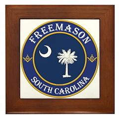 South Carolina Masons Framed Tile