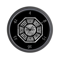 Black Dharma Initiative Wall Clock