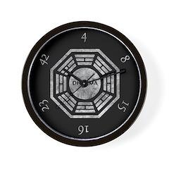 Black Dharma Initiative Wall Clock