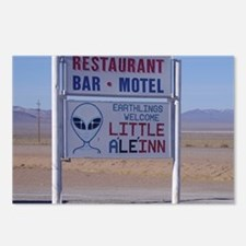 Little A Le Inn Sign Postcards (Package of 8)
