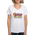 Mr. Cluck Charity Women's V-Neck T-Shirt