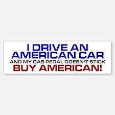 American Car Bumper Bumper Bumper Sticker
