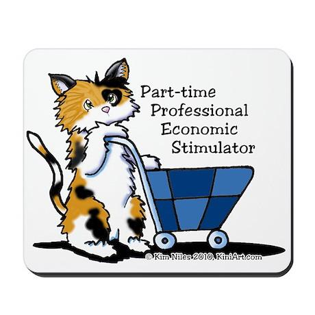 Calico Cat Economic Stimulator Mousepad