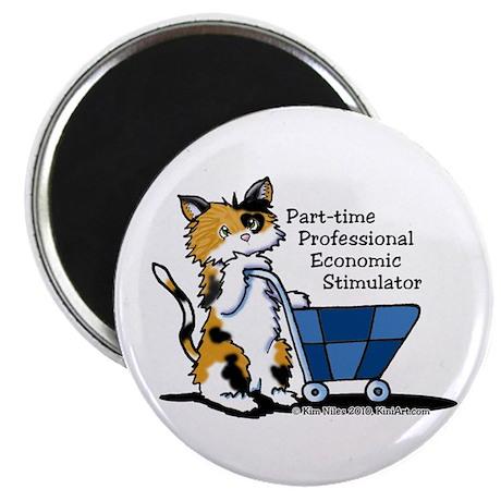 """Calico Cat Economic Stimulator 2.25"""" Magnet (10 pa"""