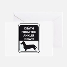 Ankle Death Greeting Card