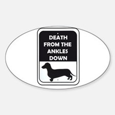 Ankle Death Sticker (Oval)