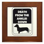 Ankle Death Framed Tile